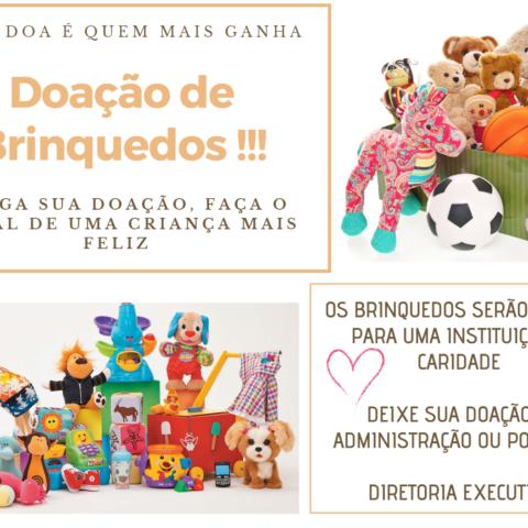 Campanha de Natal 2018: doação de brinquedos