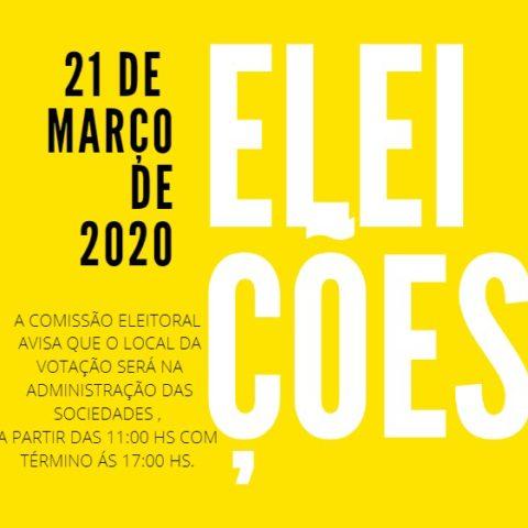Eleições 2020: horário e local de votação